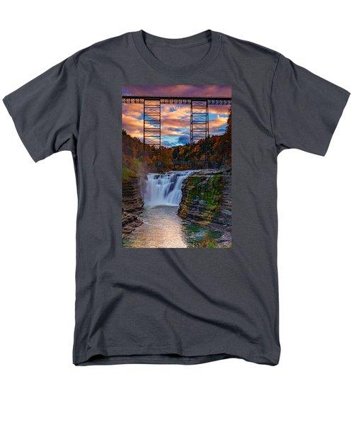 Upper Falls Letchworth State Park Men's T-Shirt  (Regular Fit) by Rick Berk