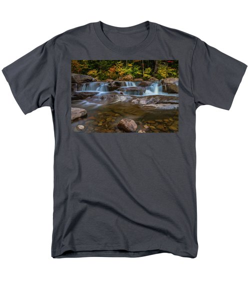Men's T-Shirt  (Regular Fit) featuring the photograph Upper Swift River Falls In White Mountains New Hampshire by Ranjay Mitra