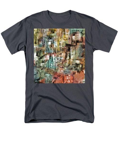 Men's T-Shirt  (Regular Fit) featuring the mixed media Urban #6 by Kim Gauge