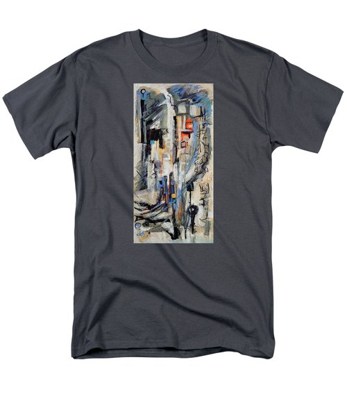 Men's T-Shirt  (Regular Fit) featuring the painting Urban Street 2 by Mary Schiros
