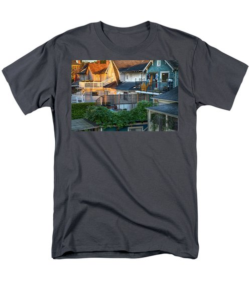Men's T-Shirt  (Regular Fit) featuring the photograph Urban Vancouver by Theresa Tahara