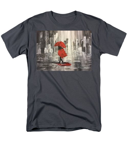 Urban Walk In The Rain Men's T-Shirt  (Regular Fit) by Lucia Grilletto