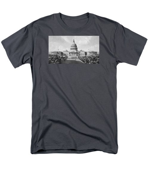 Us Capitol Building Men's T-Shirt  (Regular Fit) by War Is Hell Store