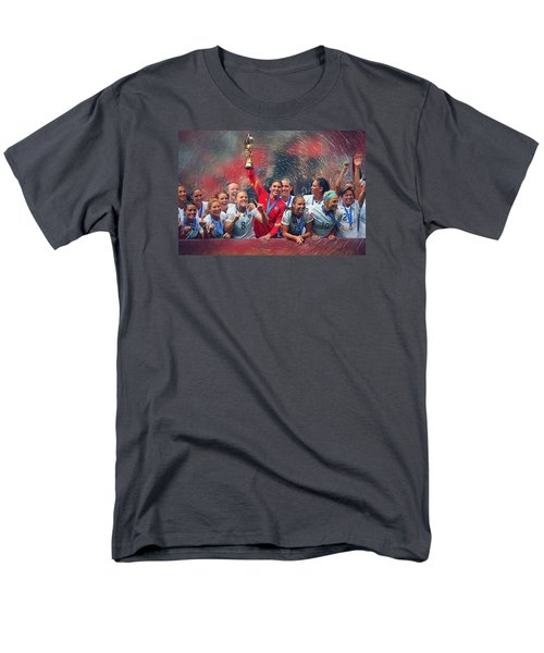 Us Women's Soccer Men's T-Shirt  (Regular Fit) by Semih Yurdabak