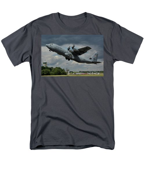 Usaf Lockheed-martin C-130j-30 Hercules  Men's T-Shirt  (Regular Fit) by Tim Beach