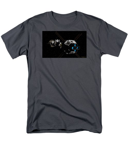 Uss Savannah In Deep Space Men's T-Shirt  (Regular Fit) by David Robinson