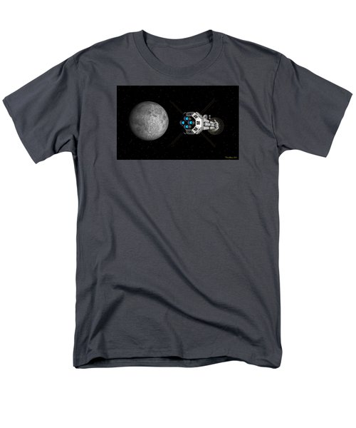 Uss Savannah Passing Earth's Moon Men's T-Shirt  (Regular Fit) by David Robinson