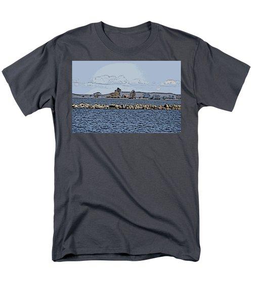 Vaennern Lake Men's T-Shirt  (Regular Fit) by Thomas M Pikolin