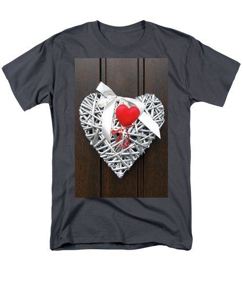Men's T-Shirt  (Regular Fit) featuring the photograph Valentine Heart by Juergen Weiss