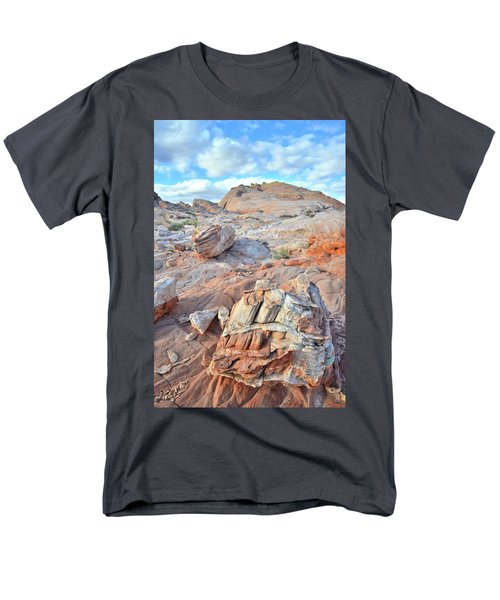 Valley Of Fire Boulders Men's T-Shirt  (Regular Fit) by Ray Mathis