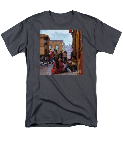 Van Gogh Visits Mexico Men's T-Shirt  (Regular Fit) by John  Kolenberg