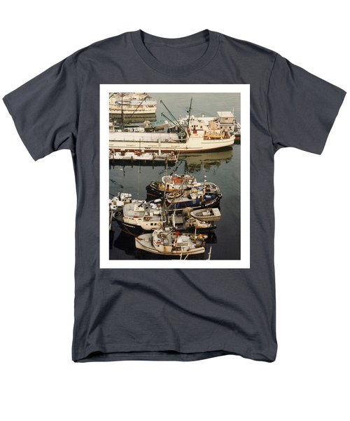 Men's T-Shirt  (Regular Fit) featuring the photograph Vancouver Harbor Fishin Fleet by Jack Pumphrey