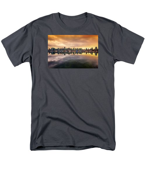 Men's T-Shirt  (Regular Fit) featuring the photograph Vancouver Reflections by Eti Reid