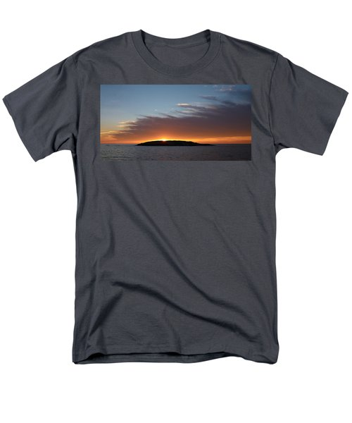 Men's T-Shirt  (Regular Fit) featuring the photograph Variations Of Sunsets At Gulf Of Bothnia 1 by Jouko Lehto