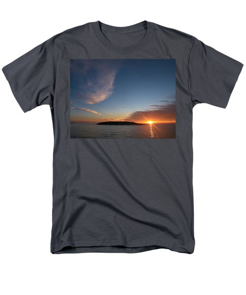 Men's T-Shirt  (Regular Fit) featuring the photograph Variations Of Sunsets At Gulf Of Bothnia 2 by Jouko Lehto