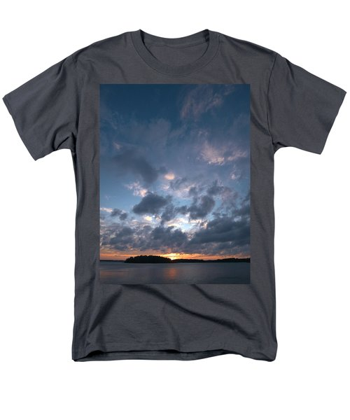 Men's T-Shirt  (Regular Fit) featuring the photograph Variations Of Sunsets At Gulf Of Bothnia 5 by Jouko Lehto