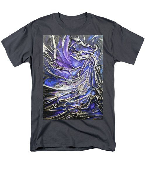 Men's T-Shirt  (Regular Fit) featuring the mixed media Veiled Figure by Angela Stout