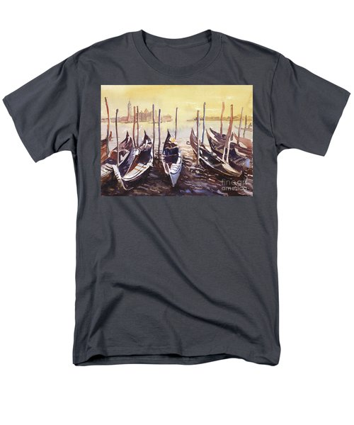 Men's T-Shirt  (Regular Fit) featuring the painting Venice Watercolor- Italy by Ryan Fox