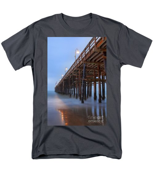 Men's T-Shirt  (Regular Fit) featuring the photograph Ventura Ca Pier At Dawn by John A Rodriguez