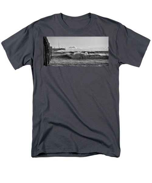Men's T-Shirt  (Regular Fit) featuring the photograph Ventura Pier El Nino 2016 by John A Rodriguez