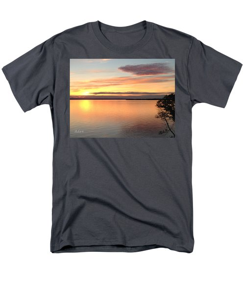 Men's T-Shirt  (Regular Fit) featuring the photograph Vermont Sunset, Lake Champlain by Felipe Adan Lerma