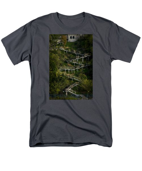 Vertical Stairs Men's T-Shirt  (Regular Fit) by Celso Bressan
