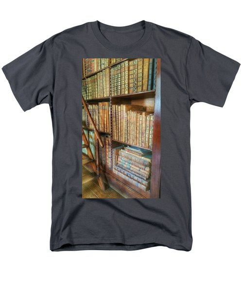 Victorian Library Men's T-Shirt  (Regular Fit) by Isabella F Abbie Shores FRSA