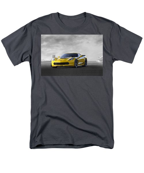 Men's T-Shirt  (Regular Fit) featuring the digital art Victory Yellow  by Peter Chilelli