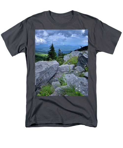 View From Grandfather Mtn Nc Men's T-Shirt  (Regular Fit) by Steve Hurt