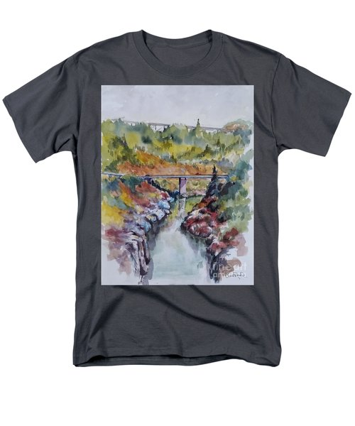 View From No Hands Bridge Men's T-Shirt  (Regular Fit) by William Reed