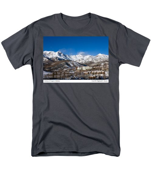 Men's T-Shirt  (Regular Fit) featuring the photograph View From The Mountain Above Telluride by Carol M Highsmith