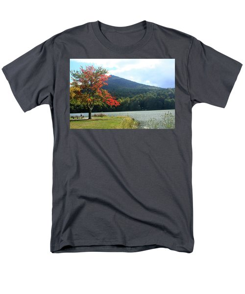 View Of Abbott Lake And Sharp Top In Autumn Men's T-Shirt  (Regular Fit)