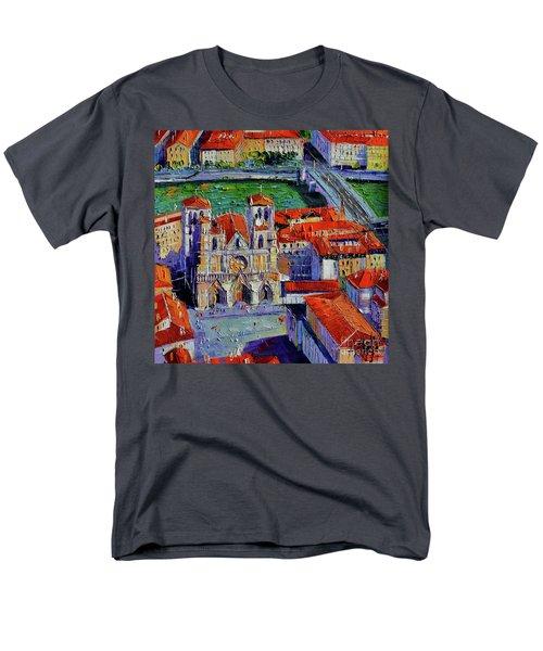 View Over Cathedral Saint Jean Lyon Men's T-Shirt  (Regular Fit)