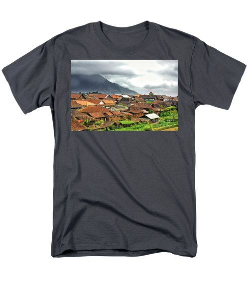 Men's T-Shirt  (Regular Fit) featuring the photograph Village View by Charuhas Images