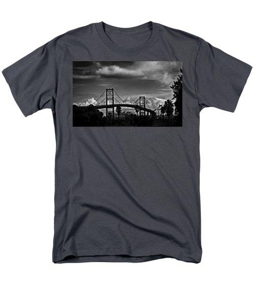 Men's T-Shirt  (Regular Fit) featuring the photograph Vincent Thomas Bridge by Joseph Hollingsworth