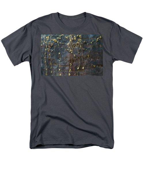 Men's T-Shirt  (Regular Fit) featuring the photograph Vines On Rock, Bhimbetka, 2016 by Hitendra SINKAR