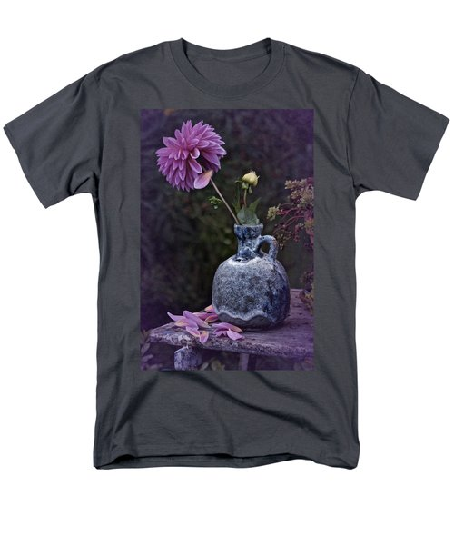 Vintage Dahlia Still Life Men's T-Shirt  (Regular Fit) by Richard Cummings