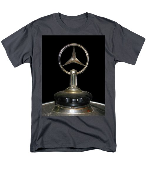 Men's T-Shirt  (Regular Fit) featuring the photograph Vintage Mercedes Radiator Cap by David and Carol Kelly