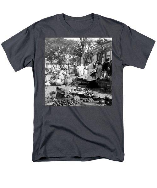 Vintage Street Scene In Ponce - Puerto Rico - C 1899 Men's T-Shirt  (Regular Fit) by International  Images