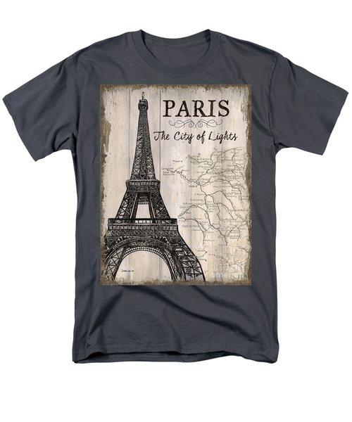 Vintage Travel Poster Paris Men's T-Shirt  (Regular Fit) by Debbie DeWitt