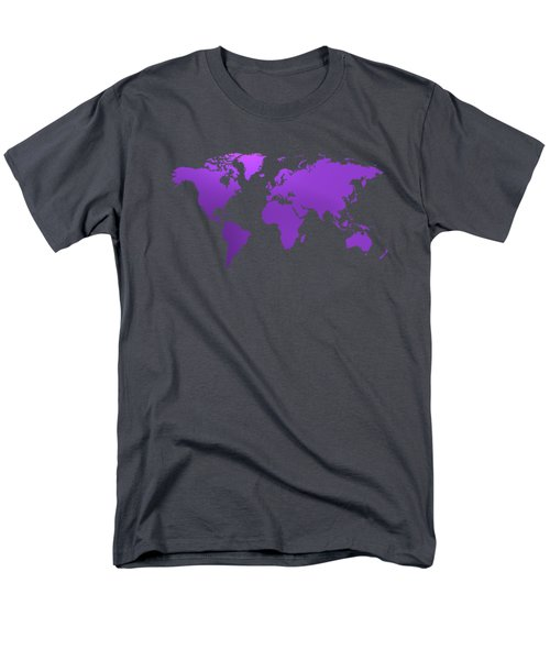 Violet Worl Map Men's T-Shirt  (Regular Fit) by Alberto RuiZ