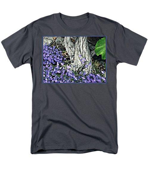 Violets At My Feet Men's T-Shirt  (Regular Fit) by Sarah Loft