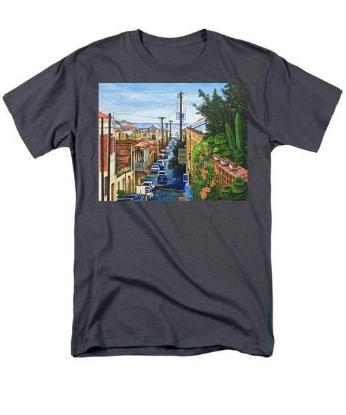 Men's T-Shirt  (Regular Fit) featuring the painting Visions Of Paradise Vii by Michael Frank