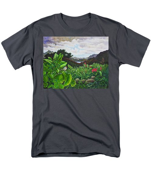 Men's T-Shirt  (Regular Fit) featuring the painting Visions Of Paradise Viii by Michael Frank