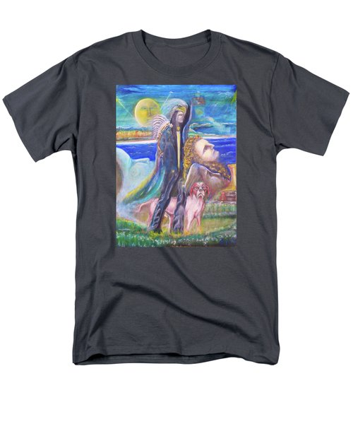 Men's T-Shirt  (Regular Fit) featuring the painting Visiting Star Beings by Kicking Bear  Productions
