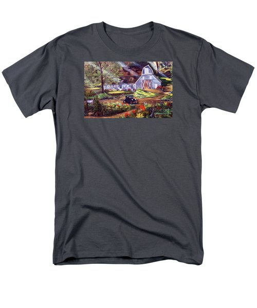 Visiting The Rocking R Men's T-Shirt  (Regular Fit) by Myrna Walsh