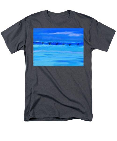 Vol De Pelicans Men's T-Shirt  (Regular Fit) by Aline Halle-Gilbert