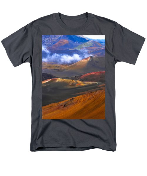 Men's T-Shirt  (Regular Fit) featuring the photograph Volcanic Crater In Maui by Debbie Karnes