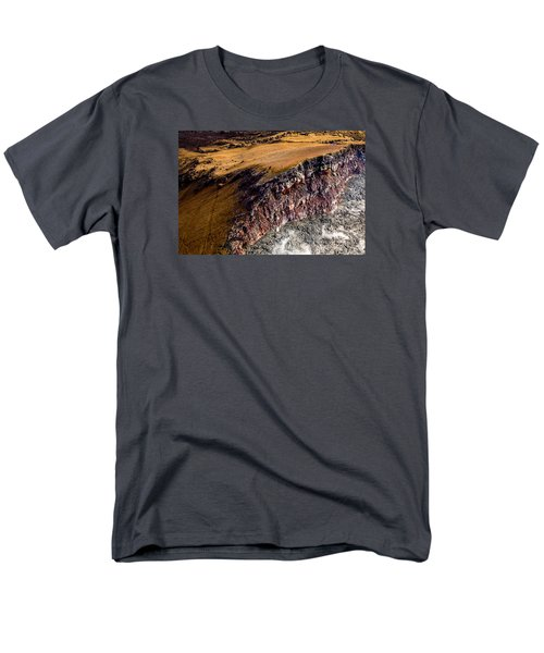 Men's T-Shirt  (Regular Fit) featuring the photograph Volcanic Ridge II by M G Whittingham