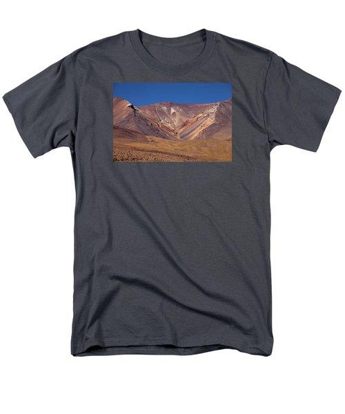 Volcano Crater In Siloli Desert Men's T-Shirt  (Regular Fit) by Aivar Mikko